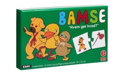 Puslespil med Bamse og Kylling